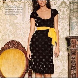 Anthro Moulinette Soeurs Velvet Polka Dot Dress 10
